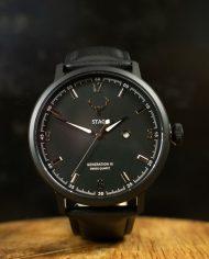 Moon Grey-Black-Leather